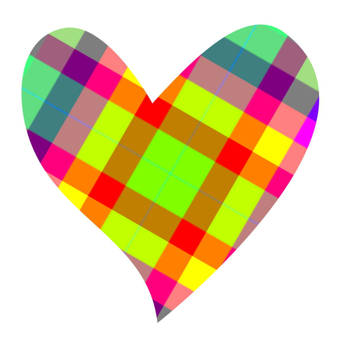 Colouful clipart Cookie Jar shape Colorful heart
