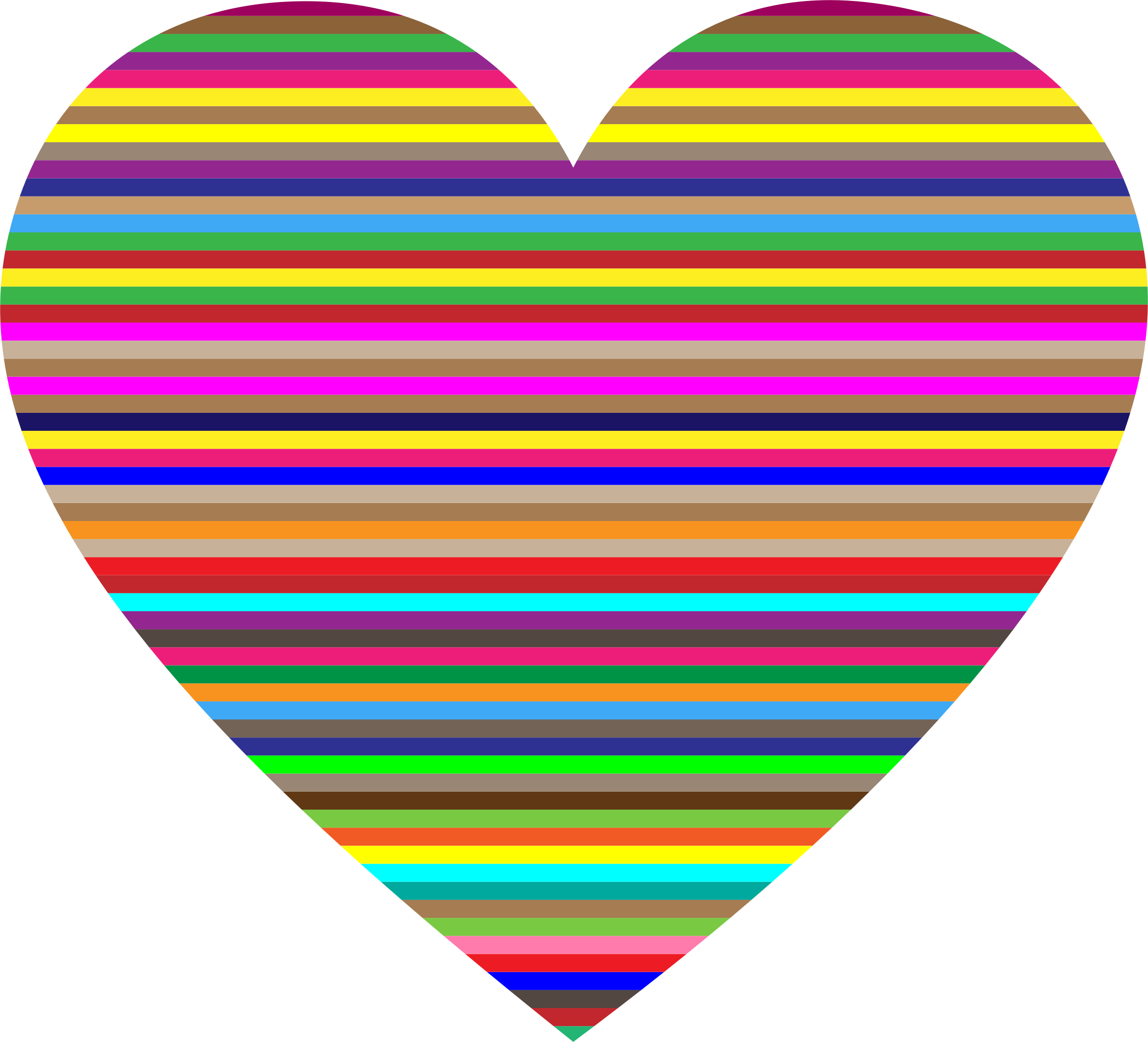 Colouful clipart Striped Clipart Horizontal Heart Striped