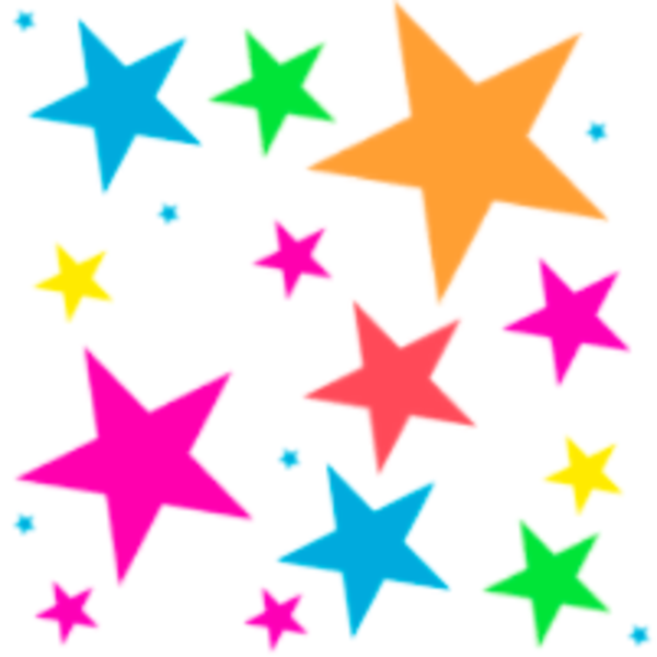 Falling Stars clipart colourful star Clipart Stars Related  Free