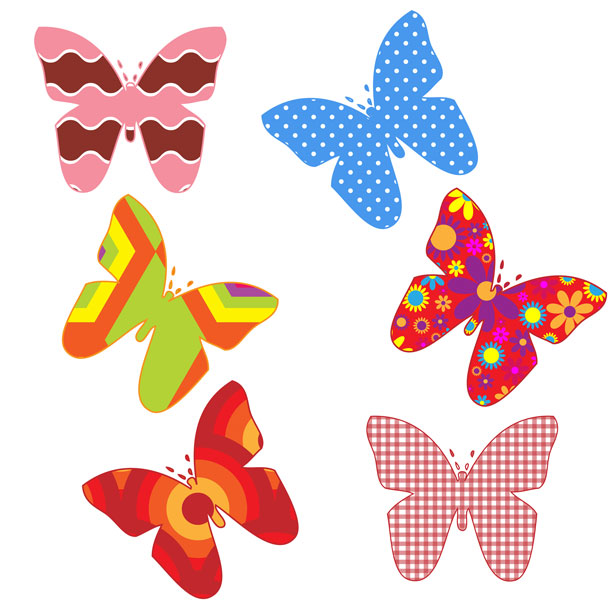 Colouful clipart Pictures Butterflies Free Colorful Domain
