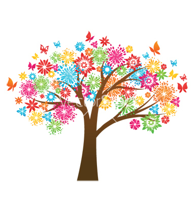 Colouful clipart Tree Colorful  Clipart