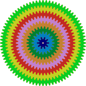 Colorful clipart Gears Gears art com Colorful