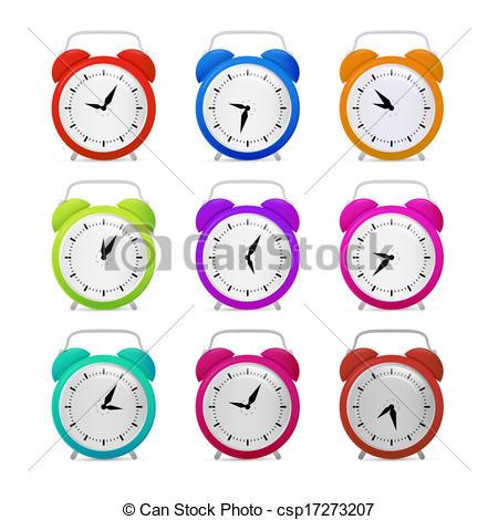 Colouful clipart alarm clock #15