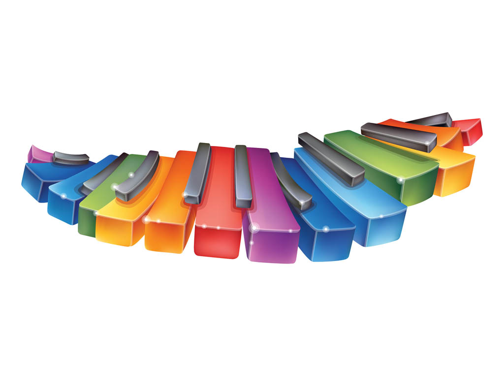 Colorful clipart piano #13