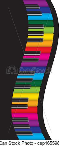 Colorful clipart piano #10