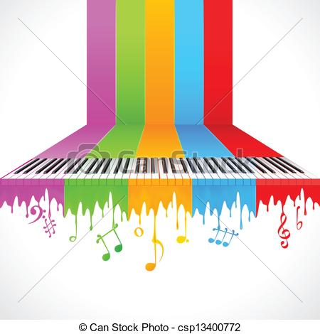 Colorful clipart piano #8