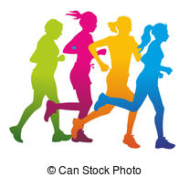 Colouful clipart runner #9