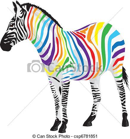 Zebra clipart colored Vector Zebra different Clip different
