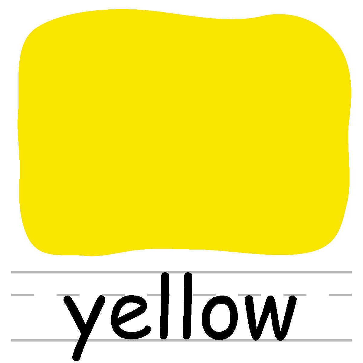 Yellow clipart black and white Apple Yellow Clip Yellow abcteach