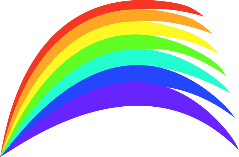 Vector clipart rainbow #1