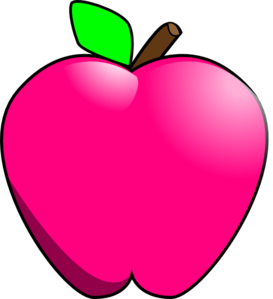 Colouful clipart apple #8