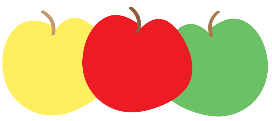 Colouful clipart apple #3