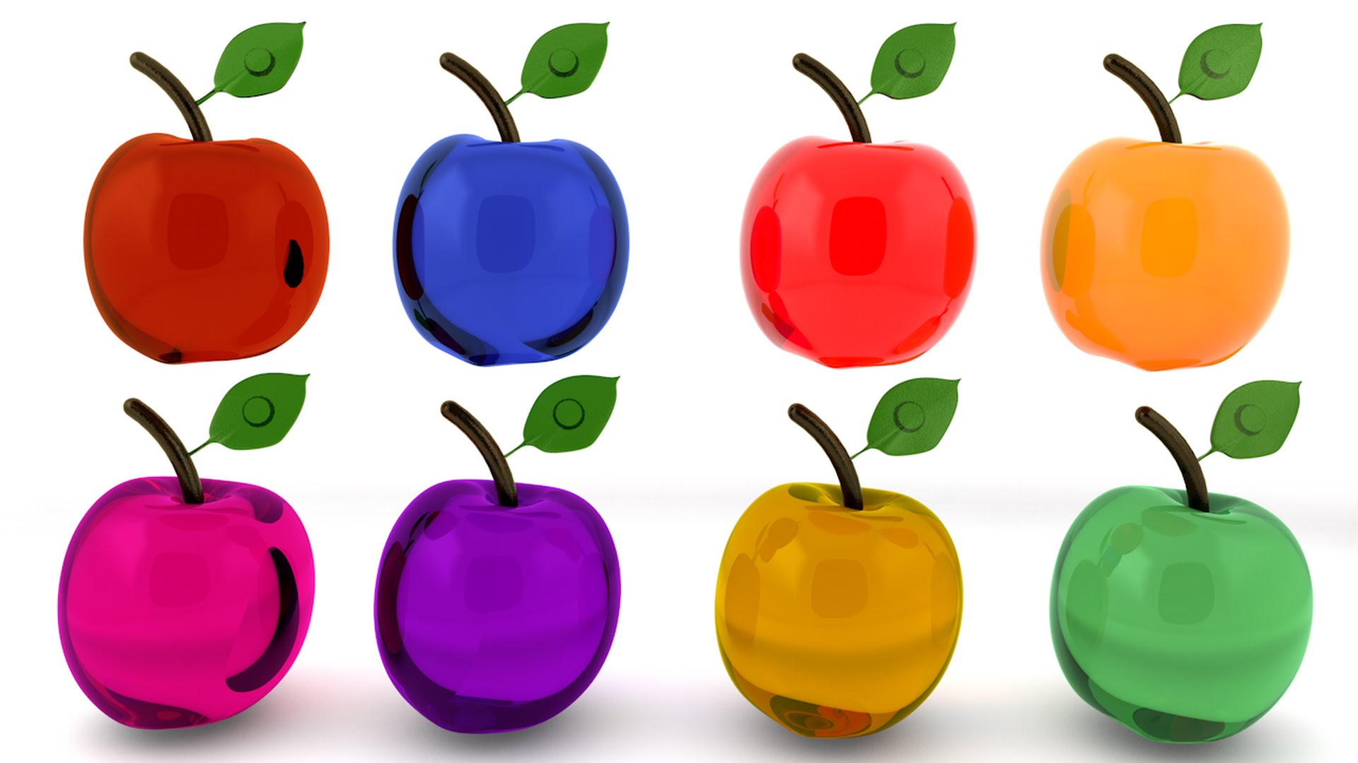 Apple clipart colorful Learning Toddlers (3D) with Toddlers