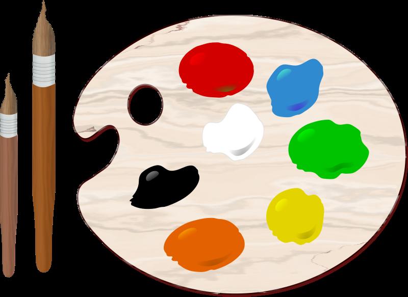 Color clipart artist palette Clipart Paint MEDIUM Palette (PNG)