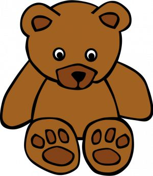 Brown Bear clipart drawn Colour brown Clipart colour brown