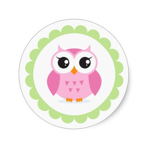 Owl clipart animated Inside border cartoon Owl sticker
