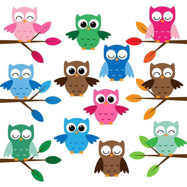 Pink Flower clipart cool cartoon Owl cartoon picture Cool ideas