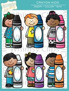 Crayon clipart childern Kids Clip Clip and art