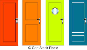 Door clipart orange #1