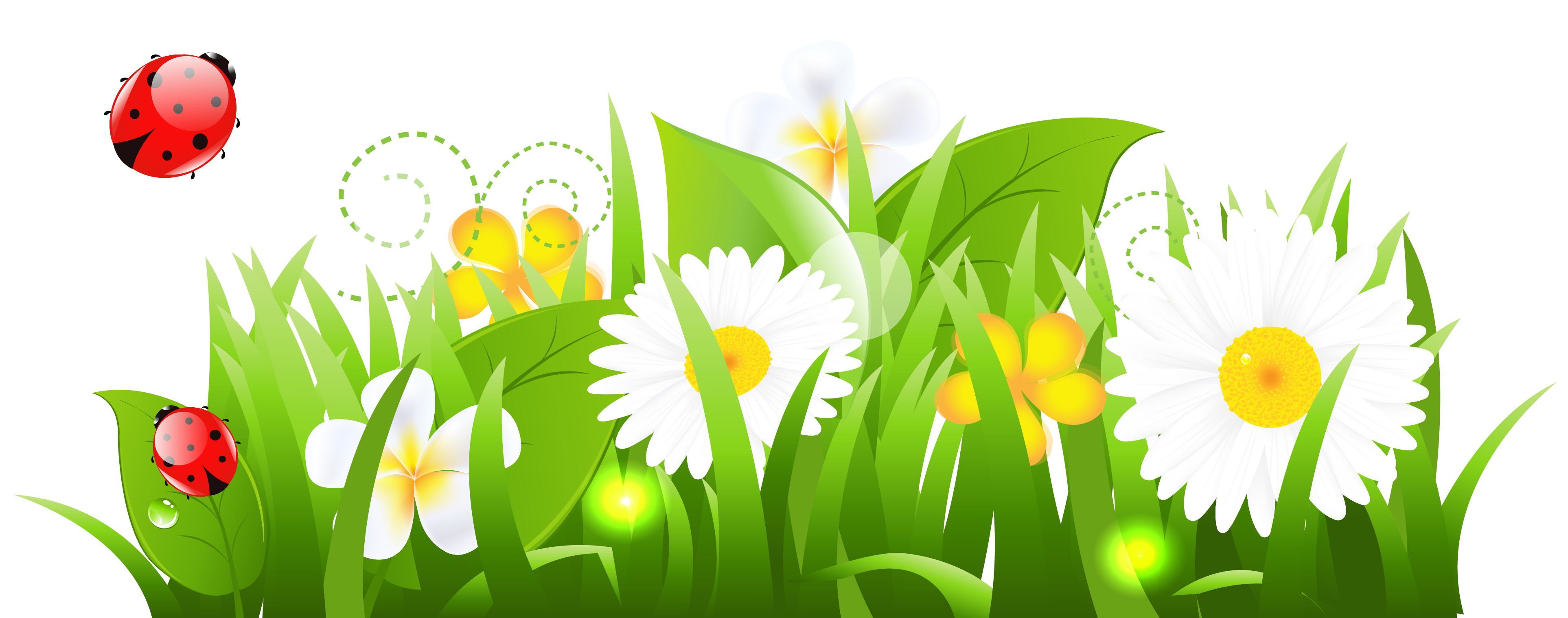 Bug clipart gress Clipart Flowers Grass And Clipart
