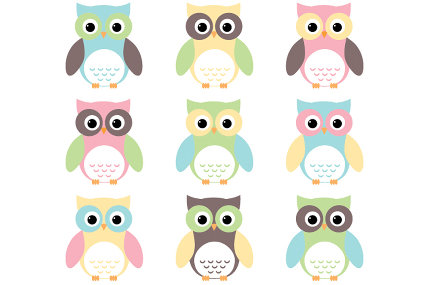 Owlet clipart pastel Creative clipart market owls products