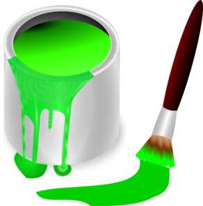 Color clipart paintbrush Green vector clip Can clip