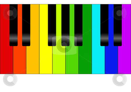 Colorful clipart piano #1