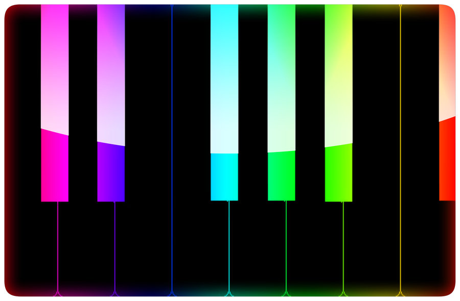 Colorful clipart piano #3