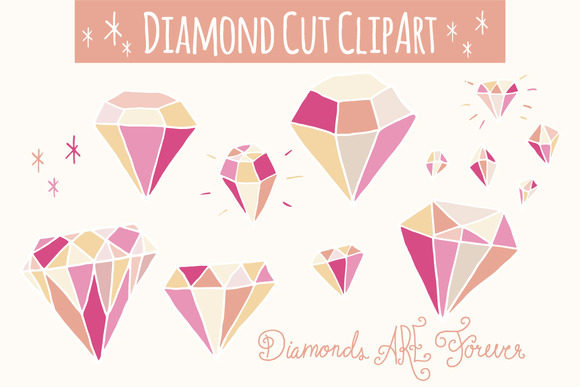 Diamond clipart colorful Crafter of Little Diamonds Pink