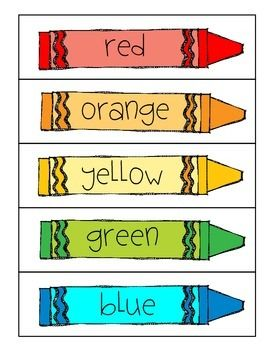 Crayon clipart color word FREEBIE 153 Pinterest on best
