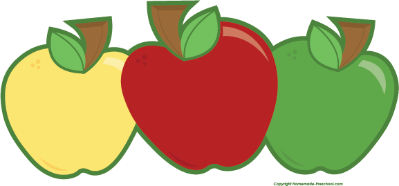 Colouful clipart apple #2