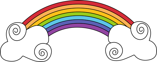 Drawn rainbow psd Clip Rainbow Swirly Images and