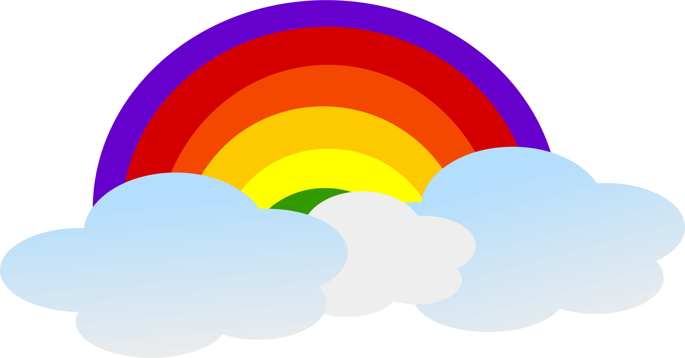 Drawn rainbow psd Clipart Free Free on Clouds
