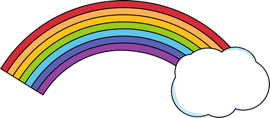 Drawn rainbow vector black and white Rainbow Cloud Art Images Rainbow
