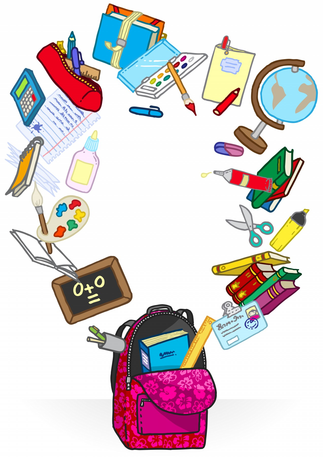 Bag clipart school supply Download Pictures Cartoon Free Clipart