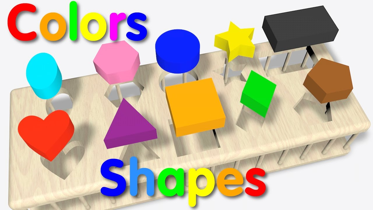 Color clipart shape Wooden Learn Kids for Shapes