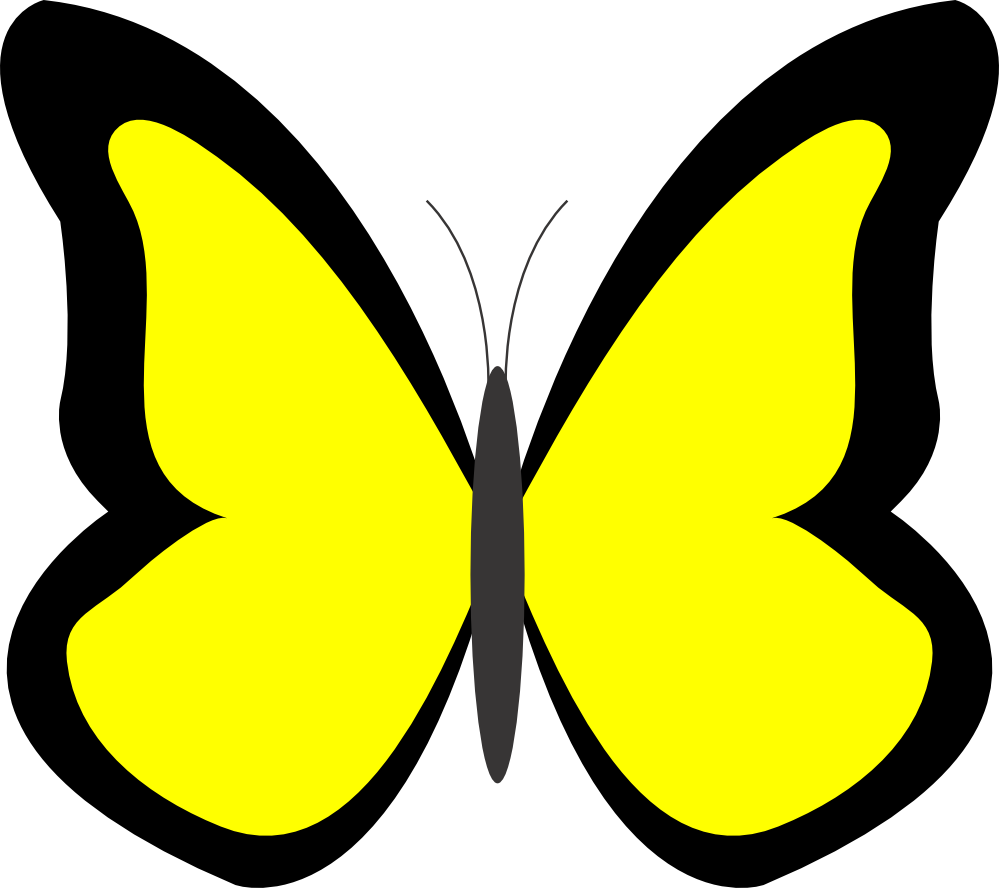 Gallery clipart yellow butterfly Lemon clipart coloured coloured clipart