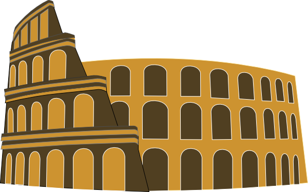 Colosseum clipart roman gladiator Royalty online Gold Rome Simplified