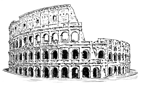 Colosseum clipart black and white To images Roman of page