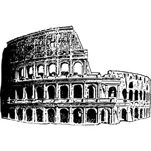 Colosseum clipart black and white Colosseum download  of cliparts