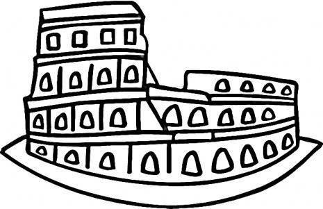 Colosseum clipart cartoon Coliseum Berkeley Clipart Clip Art