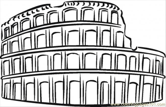 Colosseum clipart italian food Coloring Pages Coloring Coloring Page