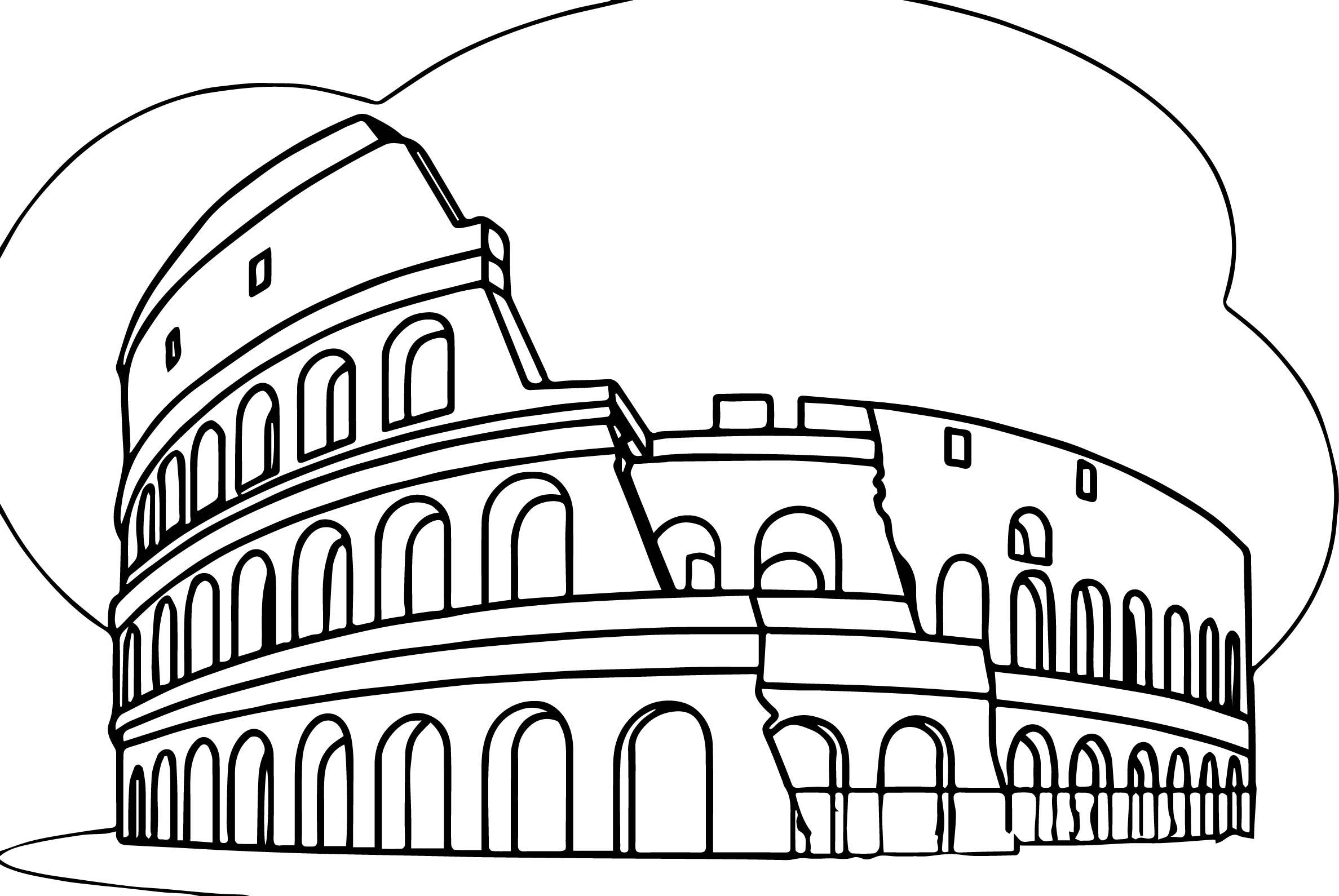 Colosseum clipart wonders the world Colosseum Wecoloringpage Roman Italy Roman