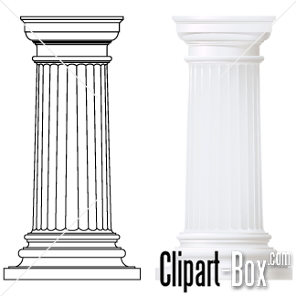 Columns clipart Royalty design free  vector