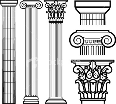 Architecture clipart greek column Doric left Roman left