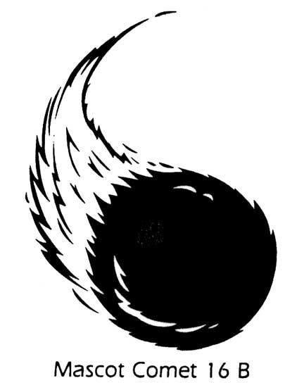 Comet clipart mascot Sports 16B stepping stone art