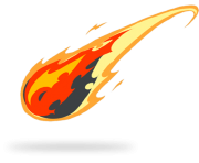 Comet clipart transparent Emoji transparent Flames png Cartoon