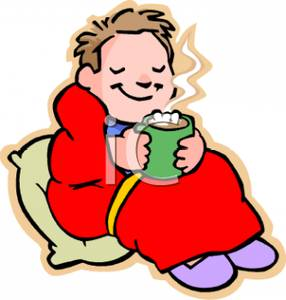 Warmth clipart comfortable Cup a Chocolate Blanket Wrapped