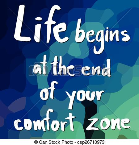 Comfort clipart comfort zone Vectors your your end of