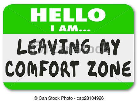Comfort clipart comfort zone Clip Sticker Sticker Name Tag